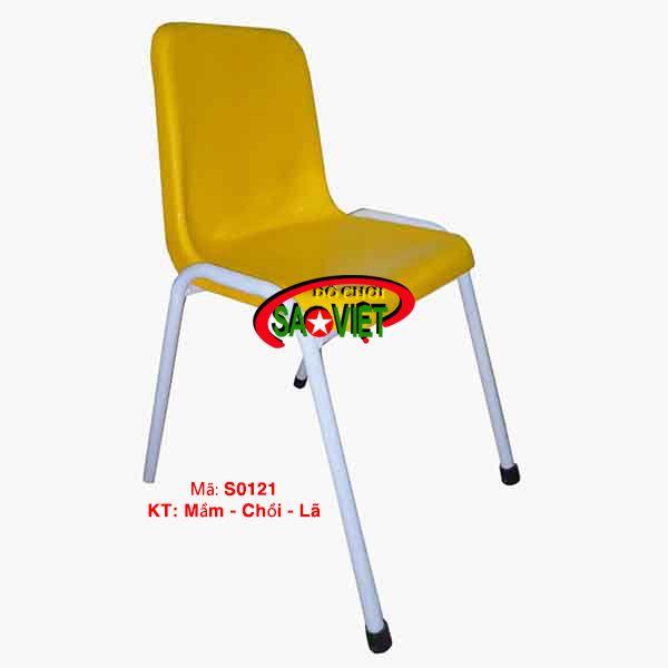 Ghế mầm non composite sắt