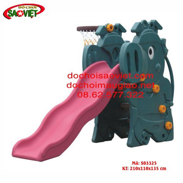 Cầu trượt bóng rổ voi còi
