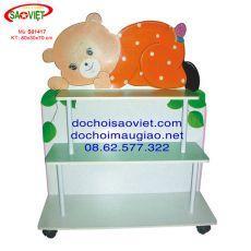 Kệ đồ chơi lưng thú hình chú gấu