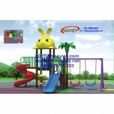 Cầu Trượt Máng Xoắn Xích Đu Mái Thỏ