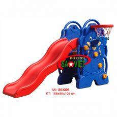 Cầu trượt bóng rổ mini hình con voi