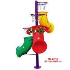 Cột ném bóng rổ 3 tầng hình ống
