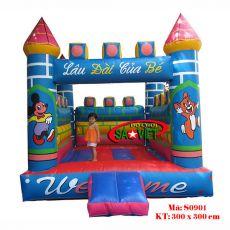 Nhà hơi lâu đài cho bé