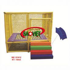 Nhà nhún khung lưới bảo vệ
