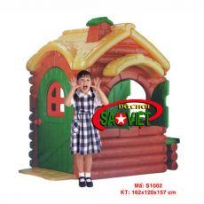 Nhà vui chơi gỗ nhựa