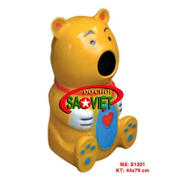 Thùng rác con gấu