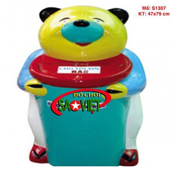 Thùng rác chú gấu lớn